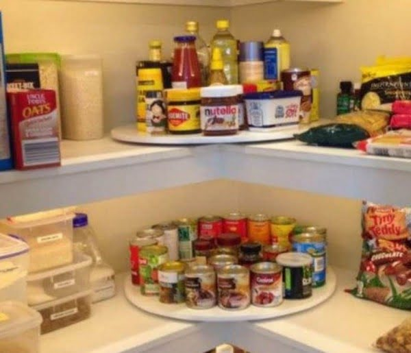 Lazy Susan Pantry Shelves Tower Storage DIY Video Tutorial