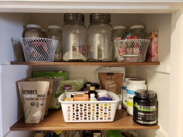 Simple DIY Farmhouse Pantry Shelves