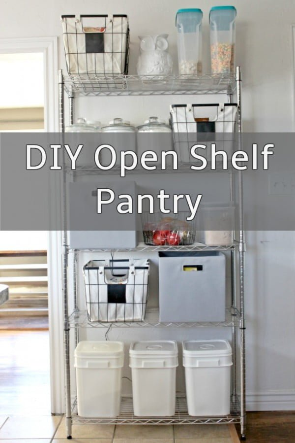DIY Open Shelf Pantry – Salty Willows