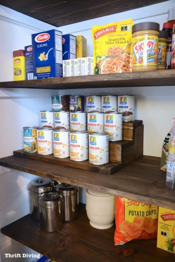 Pantry Makeover and Can Food Organizer With Hidden Storage Inside!