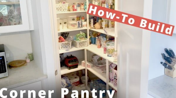 in Corner Pantry DIY Project