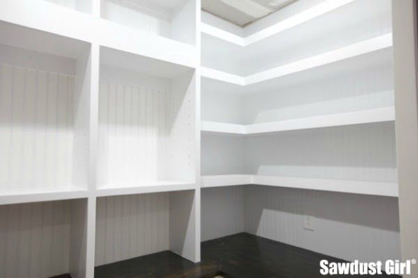 Pantry Floating Shelves