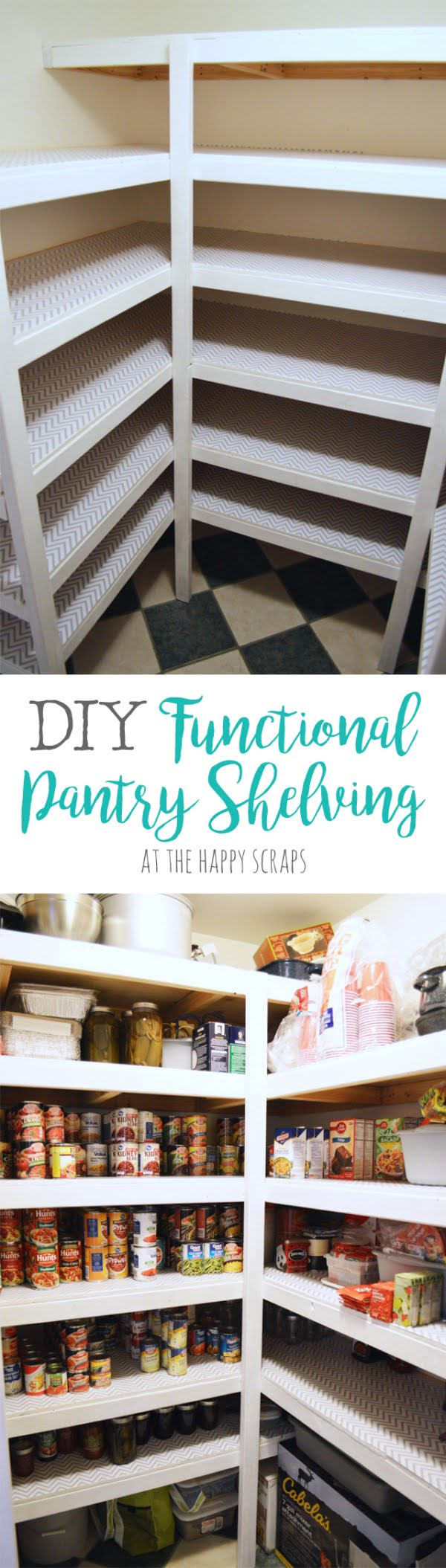 DIY Functional Pantry Shelving