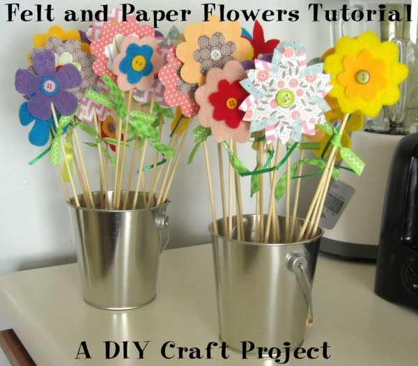 Felt and Paper Flowers Tutorial: DIY Craft Project