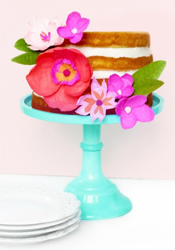 DIY Paper Flower Cake Topper