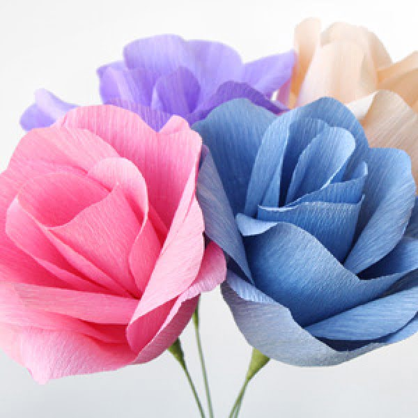 [Video] Crepe Paper Flowers DIY Tutorial
