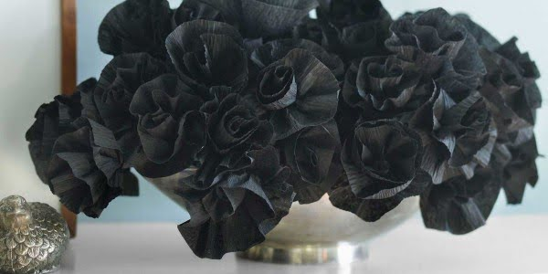 How to Make Black Crepe Paper Flowers