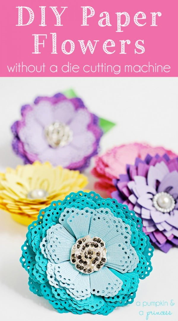 DIY Paper Flowers {without a die cutting machine}