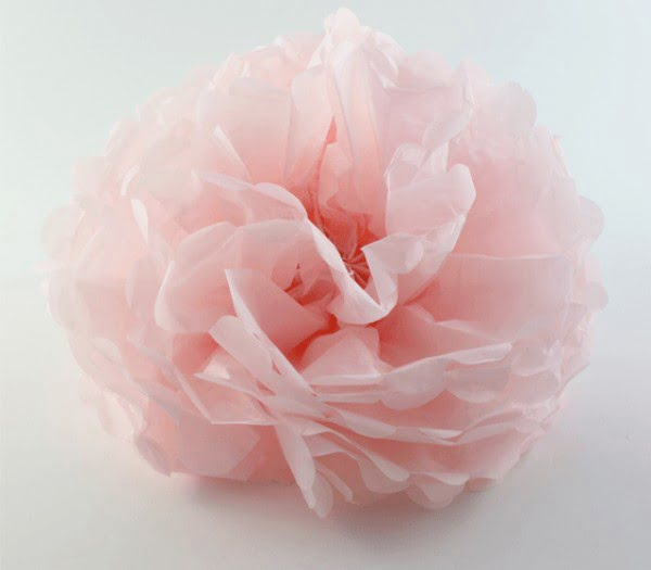 Make paper flowers from tissue paper