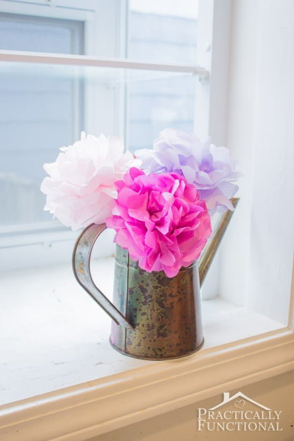 DIY Tissue Paper Flowers || Practically Functional
