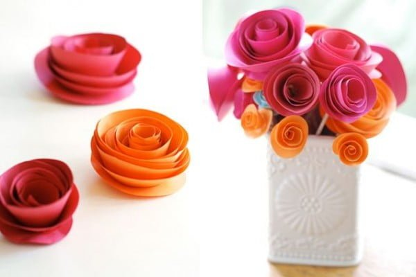 Three easy steps for DIY Paper Flowers