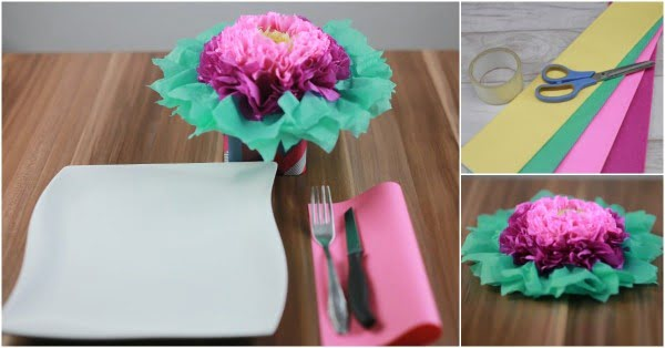 How to Make These Colorful Tissue Paper Flowers