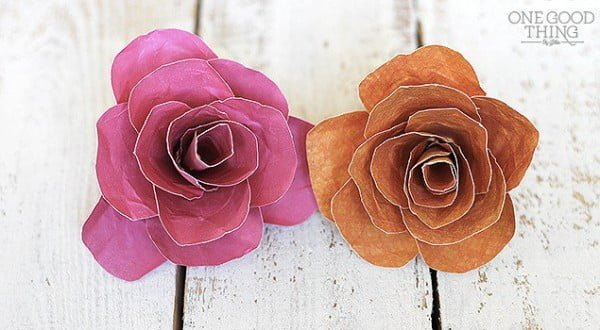 How to Make Pretty Paper Flowers · Jillee