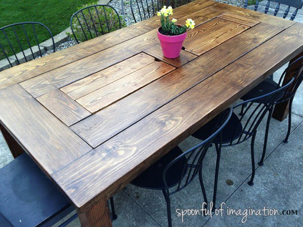 Spoonful of Imagination #DIY #patio #outdoors #backyard #furniture
