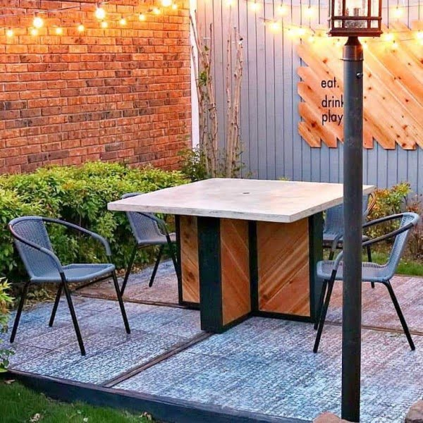 Concrete Outdoor Table Base: With UnCookie Cutter