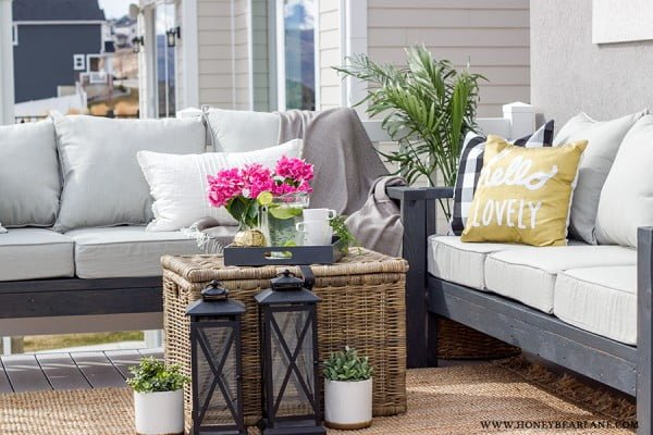 DIY Outdoor Furniture #DIY #patio #outdoors #backyard #furniture