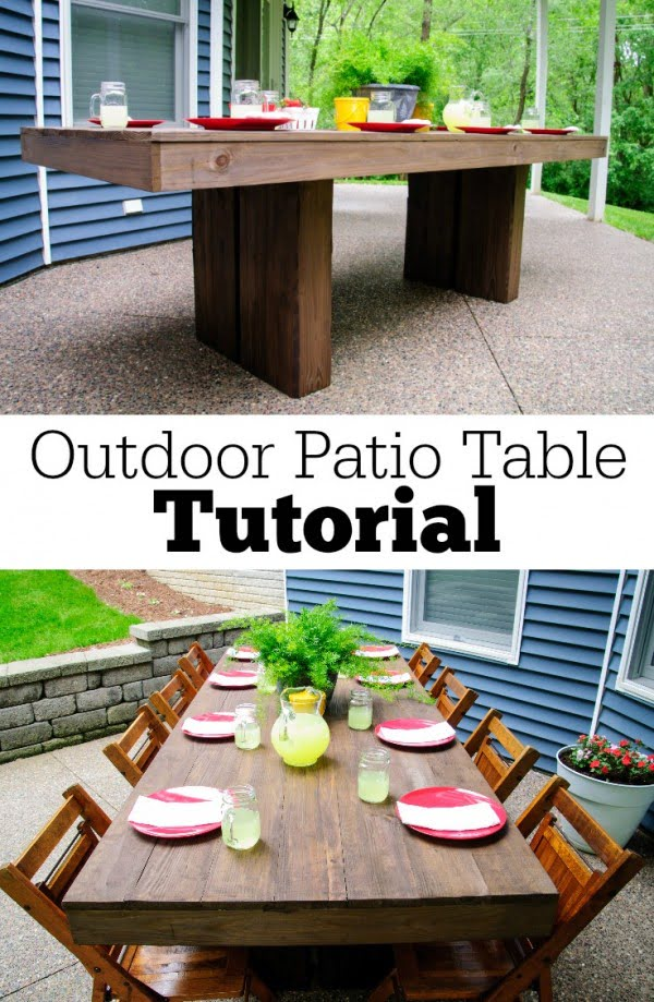 DIY Outdoor Patio Table Tutorial #DIY #patio #outdoors #backyard #furniture
