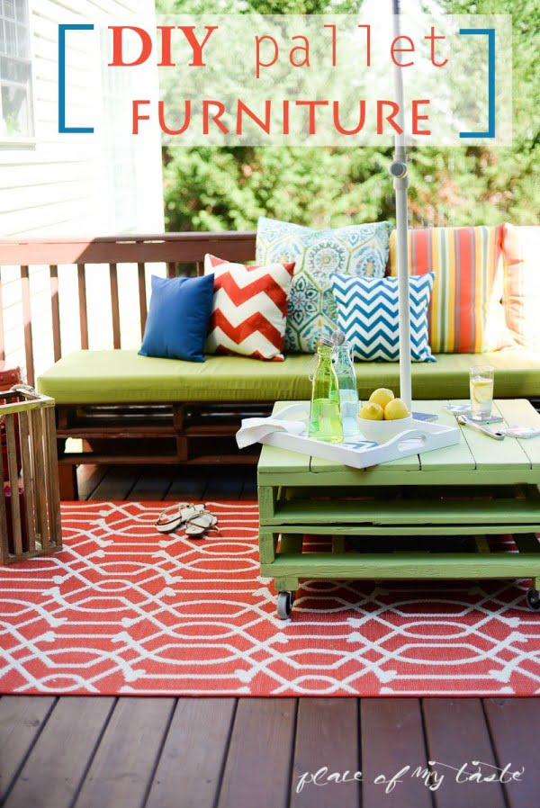 DIY PALLET FURNITURE #DIY #patio #outdoors #backyard #furniture