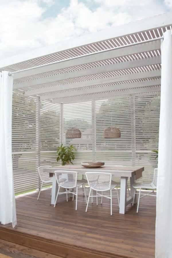 How to Build a Slat Wood Pergola