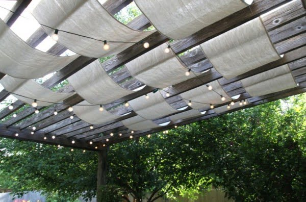 DIY: Instant Painter's Drop Cloth Pergola