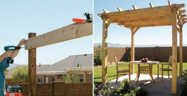 How to Make Backyard Wooden Pergola