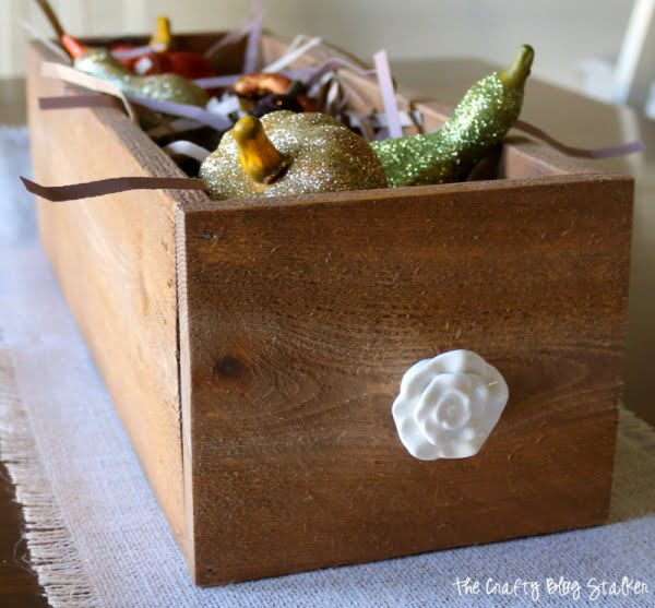 How to Make a Wood Planter Box Centerpiece