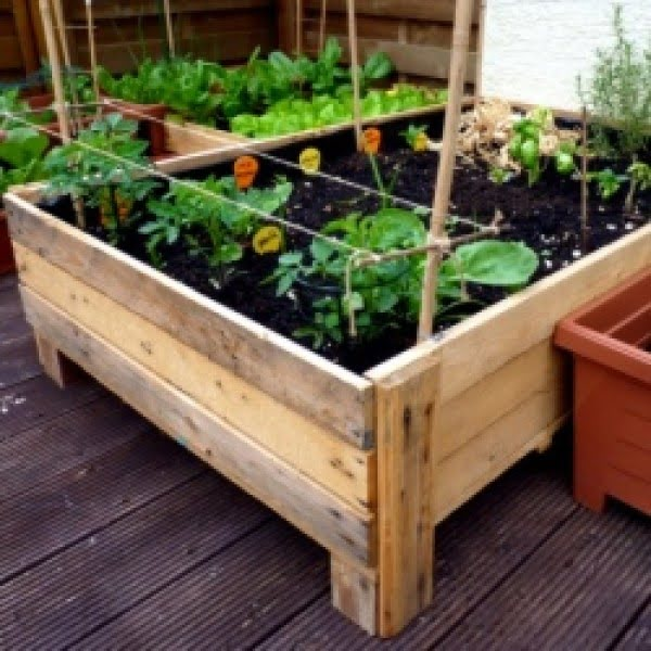 Container Gardening: DIY Planter box from pallets   ing
