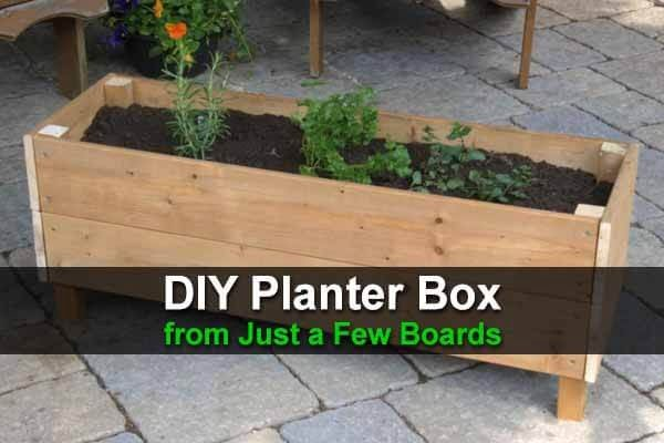 DIY Planter Box from Just a Few Boards   ing