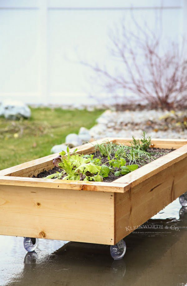 DIY Rolling Planter Box   ing