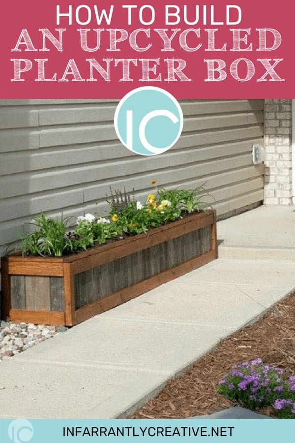 How to Build an Upcycled Planter Box   ing
