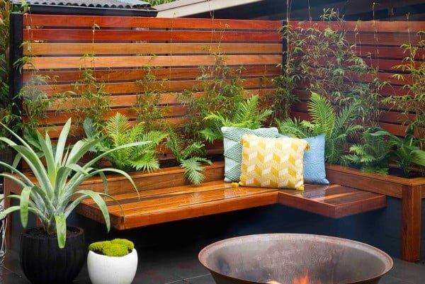 How to build a bench seat and planter box   ing