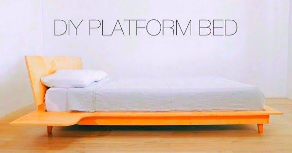DIY Platform Bed With Build-in/Floating Nightstands #diy #homedecor #bedroomdecor