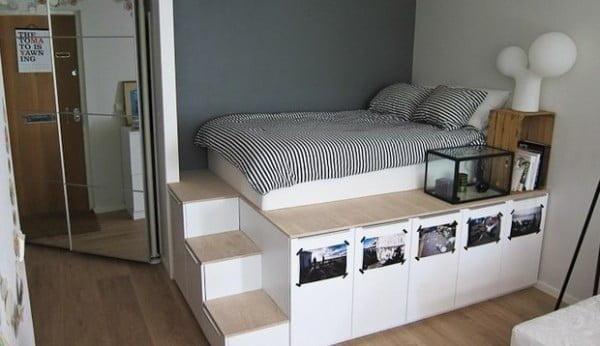 DIY: platform bed met extra opbergruimte - Roomed #diy #homedecor #bedroomdecor