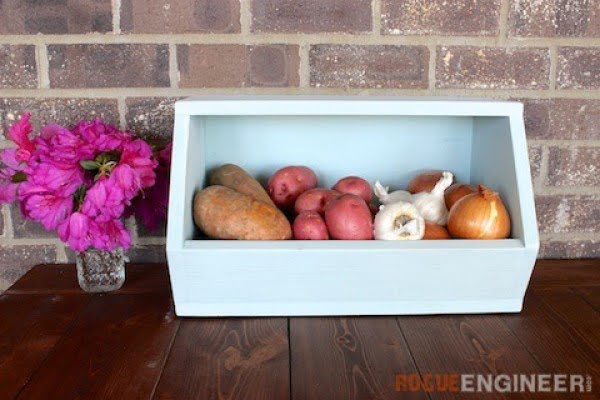 Root Vegetable Storage Bin { Free DIY Plans } Rogue Engineer