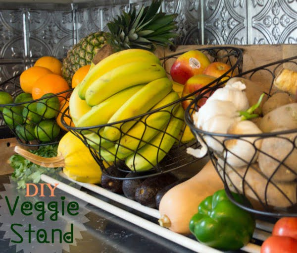 DIY counter top vegetable stand