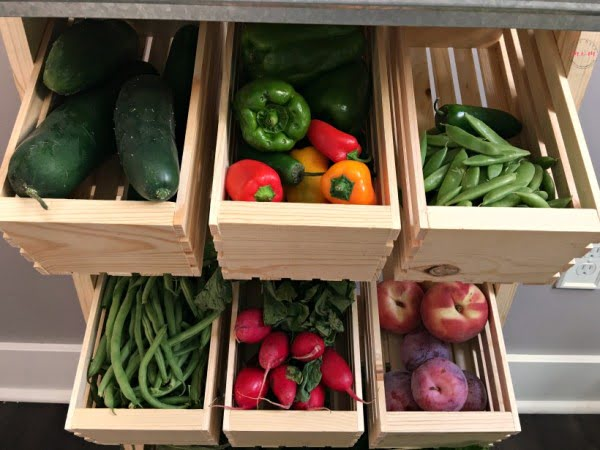 Farmhouse Style Produce Stand DIY Tutorial