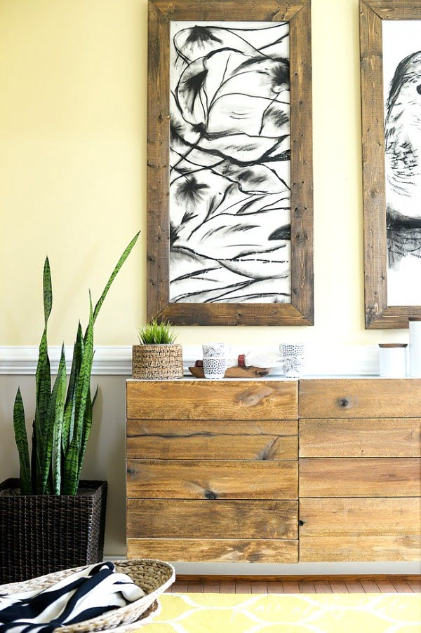 DIY RECLAIMED WOOD BUFFET #DIY #reclaimedwood #homedecor #rustic #farmhouse