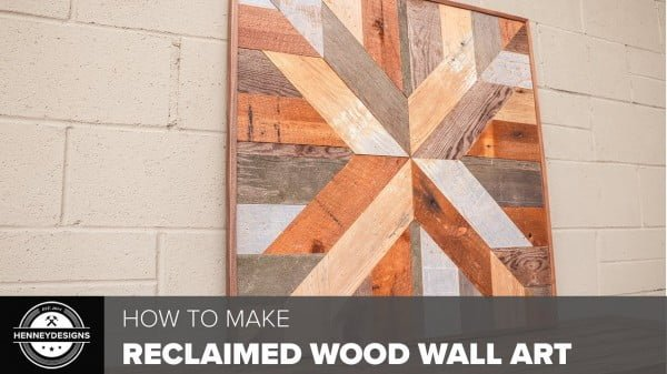 DIY Reclaimed Wood Wall Art // Woodworking #DIY #reclaimedwood #rustic #homedecor #farmhouse