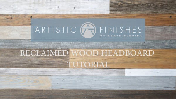 DIY How to make a Contemporary Reclaimed Wood Headboard by Artistic Finishes #DIY #reclaimedwood #rustic #homedecor #farmhouse