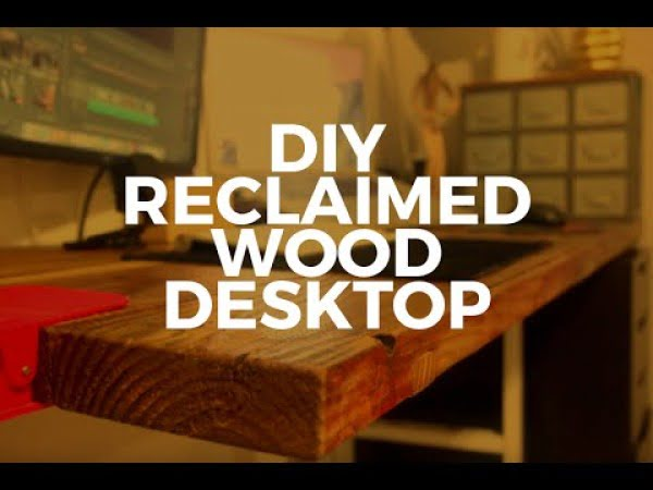 DIY Reclaimed Wood Desk Countertop #DIY #reclaimedwood #rustic #homedecor #farmhouse