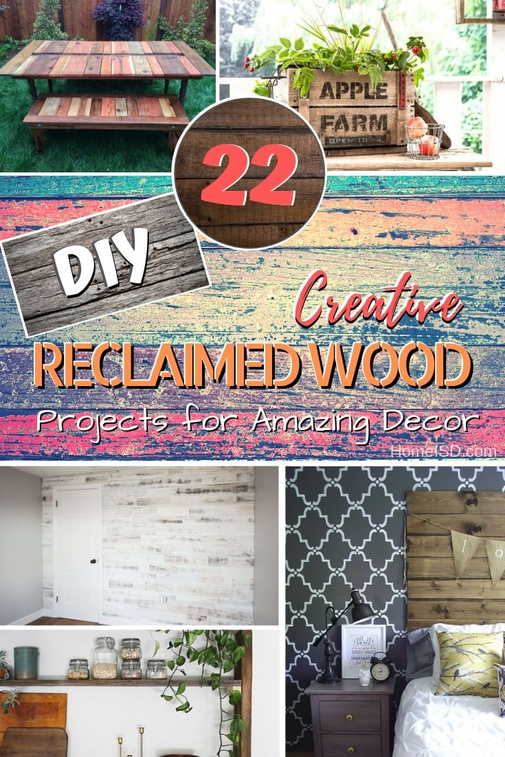We all love rustic projects especially when it means recycling old materials and being eco-friendly. Here are 22 creative ideas for inspiration! #DIY #homedecor #rustic #farmhouse #reclaimedwood