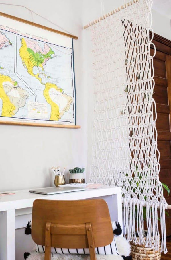 Macrame Room Divider DIY  - A Beautiful Mess