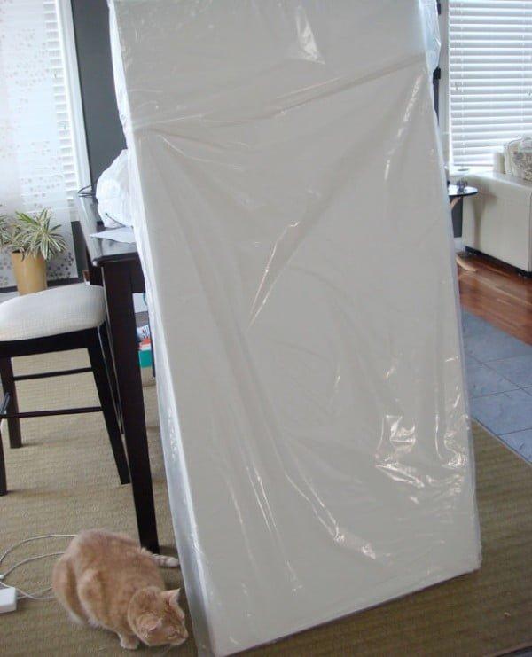 DIY room divider with artist canvas