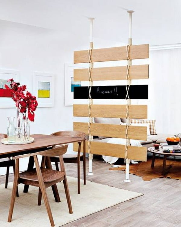 Recycling Wood Floor Pieces for DIY Room Dividers and Wall Decorations
