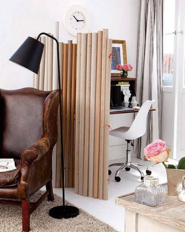 Recycling Paper for DIY Decorative Screens and Room Dividers to Improve Home Interiors