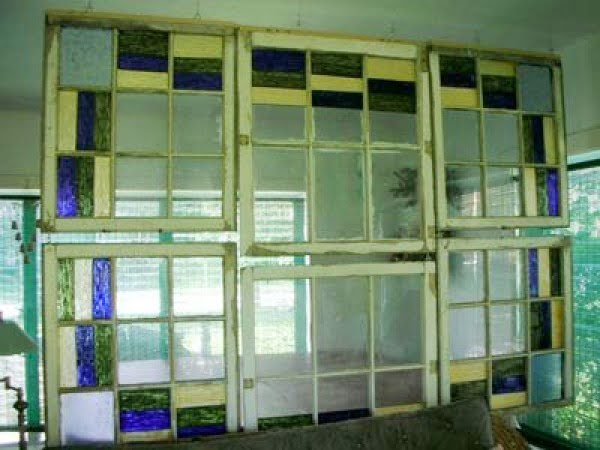 Look!: DIY Stained Glass Room Divider