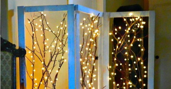 Make Your Home Magical For Winter With This Twinkling Branches DIY Project!