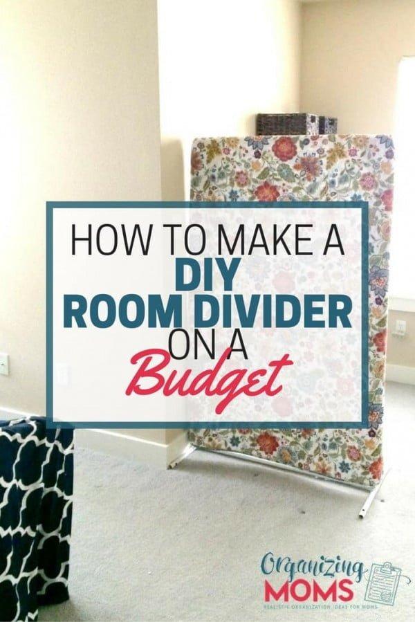 DIY Room Divider On A Budget - Organizing Moms