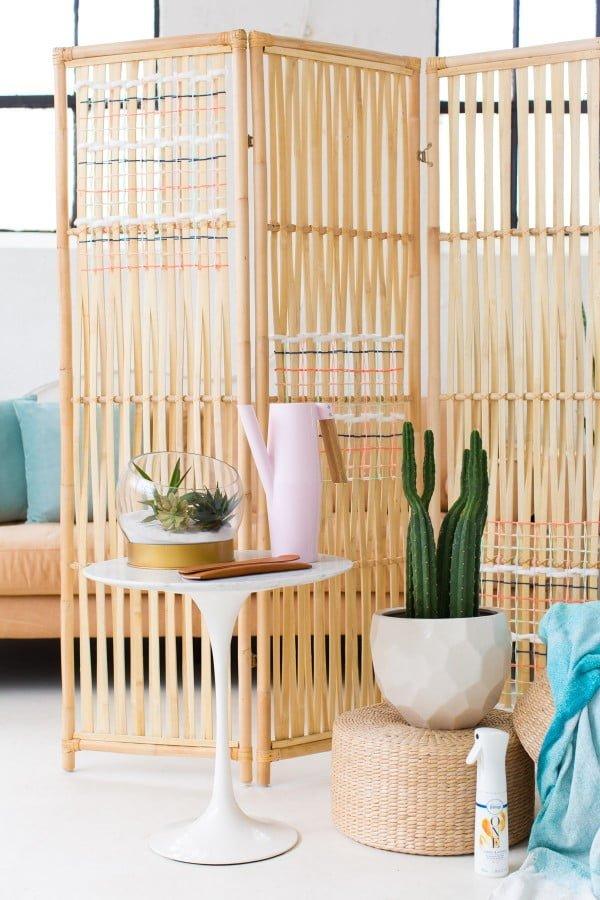 DIY Ikea Hack Woven Room Divider | Sugar & Cloth DIY