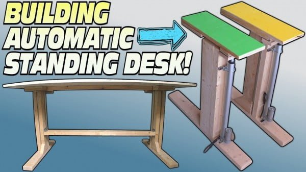 Building Convertible Electric Workstation For Easy DIY Stand Up Desks